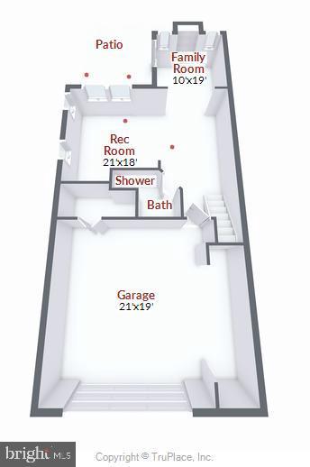 Lower level floor plan - 21935 WINDY OAKS SQ, BROADLANDS