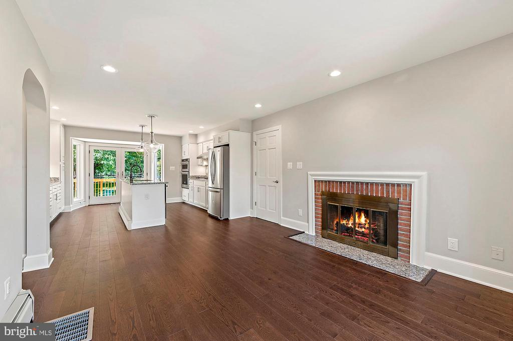 All new hardwood flooring throughout main level - 15012 CLOVER HILL RD, WATERFORD