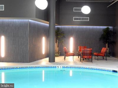 Indoor pool with spa is great for swimming laps! - 8370 GREENSBORO DR #118, MCLEAN