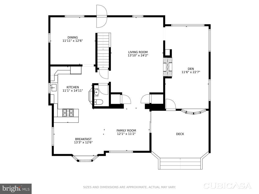 Main Floor with Addition - 4513 EDGEFIELD RD, KENSINGTON