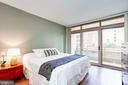 Master room with balcony access, eastern facing - 888 N QUINCY ST #312, ARLINGTON