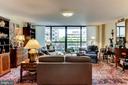 Living Room - Access to 6'x20' Balcony - 3800 FAIRFAX DR #111, ARLINGTON