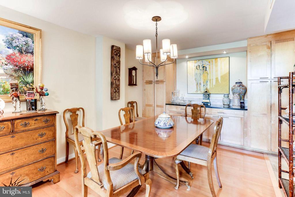 Dining Rm. - Handsome Storage area w/custom lighti - 3800 FAIRFAX DR #111, ARLINGTON