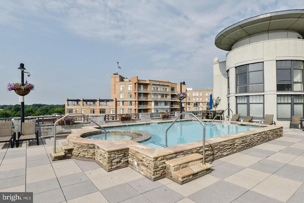 Roof Top Pool  with Great View - 1021 N GARFIELD ST #118, ARLINGTON