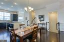 Dining / Stairs - 225 COBBLE STONE DR, WINCHESTER