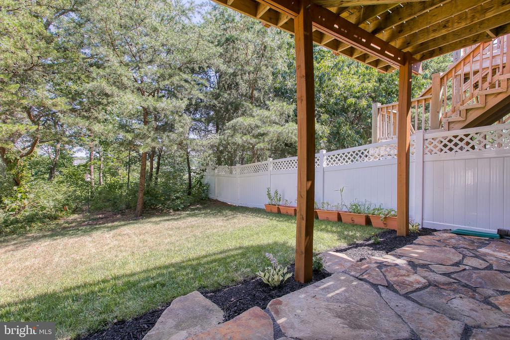 Private partially fenced backyard - 225 COBBLE STONE DR, WINCHESTER