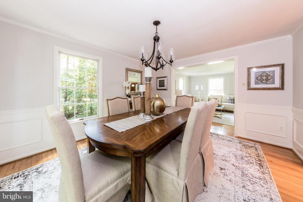 Formal Dining Room can fit even the largest table! - 7100 LAKETREE DR, FAIRFAX STATION