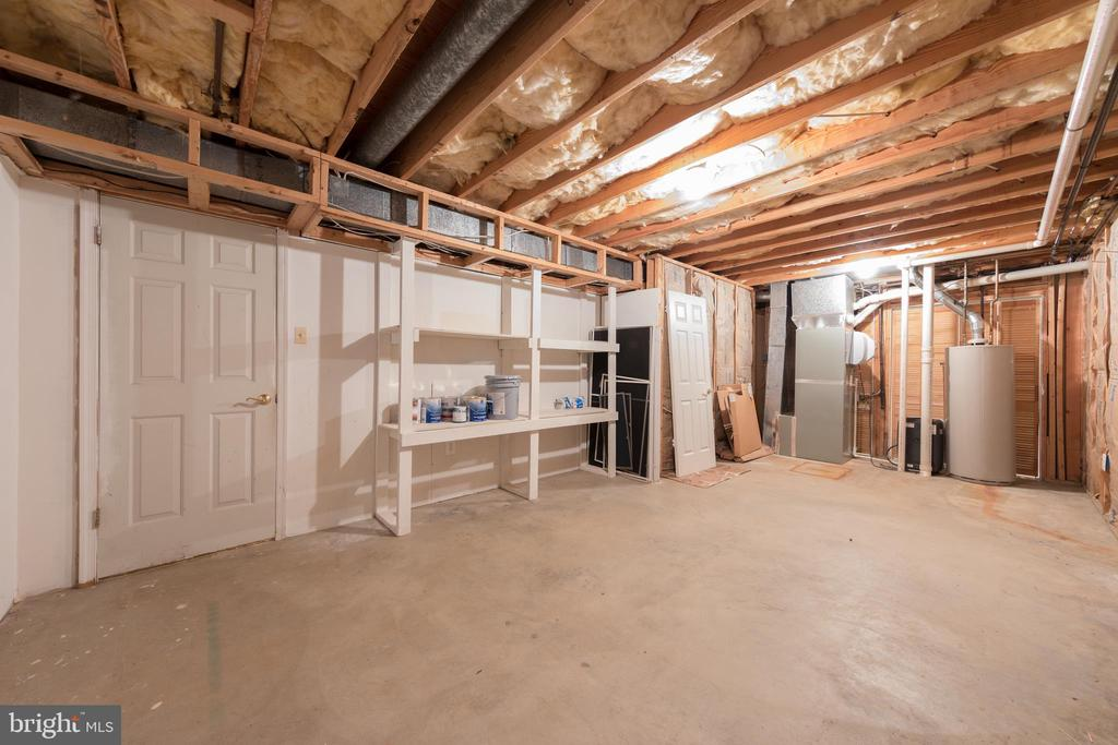 Furnace room with ample storage area - 7100 LAKETREE DR, FAIRFAX STATION
