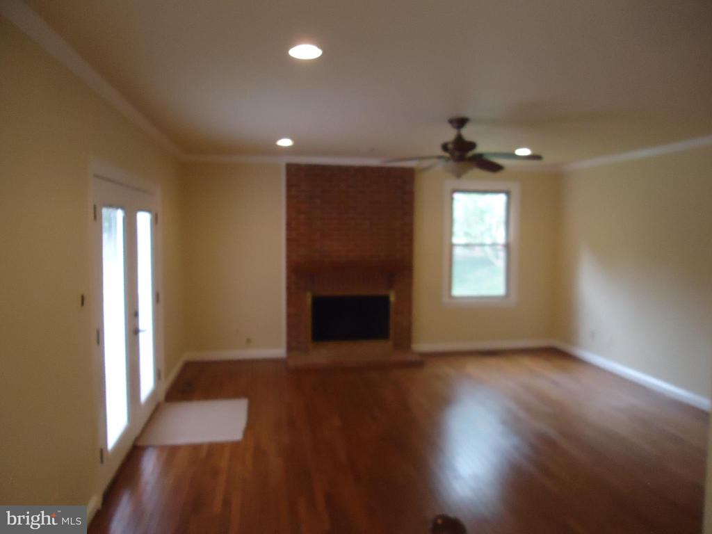 family room with ceiling fan - 13426 CAVALIER WOODS DR, CLIFTON
