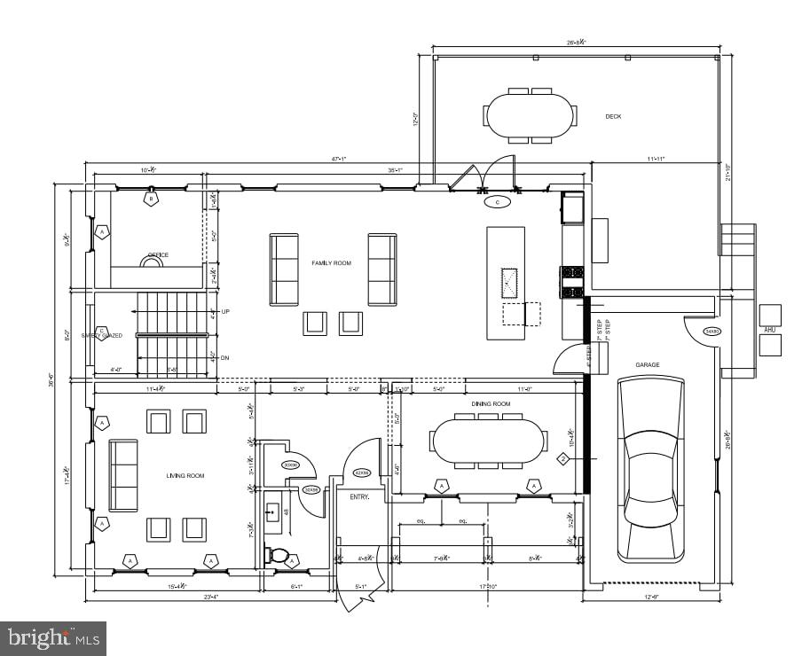 Main Level Floor Plan - 7014 31ST ST NW, WASHINGTON