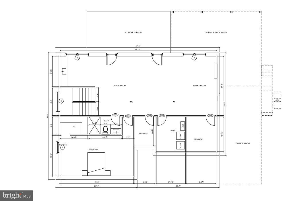 Lower Level Floor Plan - 7014 31ST ST NW, WASHINGTON