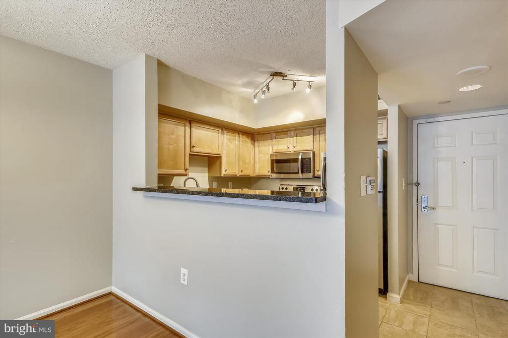 Updated Kitchen Opens to Living/Dining Area - 1001 N RANDOLPH ST #107, ARLINGTON