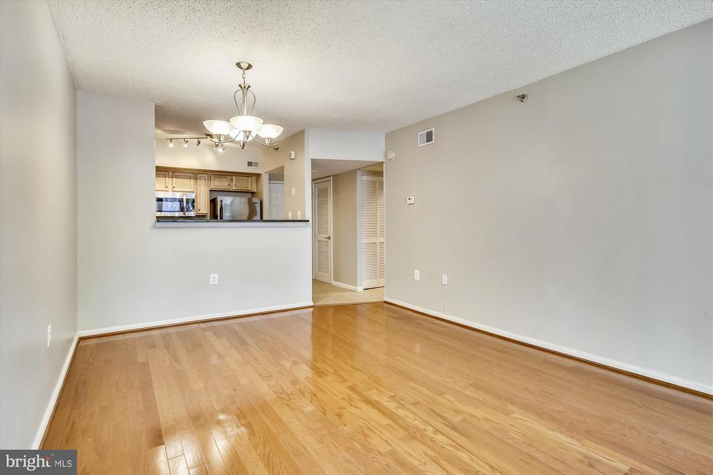 Another View from Living Room to Kitchen & Hall - 1001 N RANDOLPH ST #107, ARLINGTON