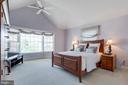 Enjoy vaulted ceiling in Master Bedroom - 8178 MADRILLON CT, VIENNA