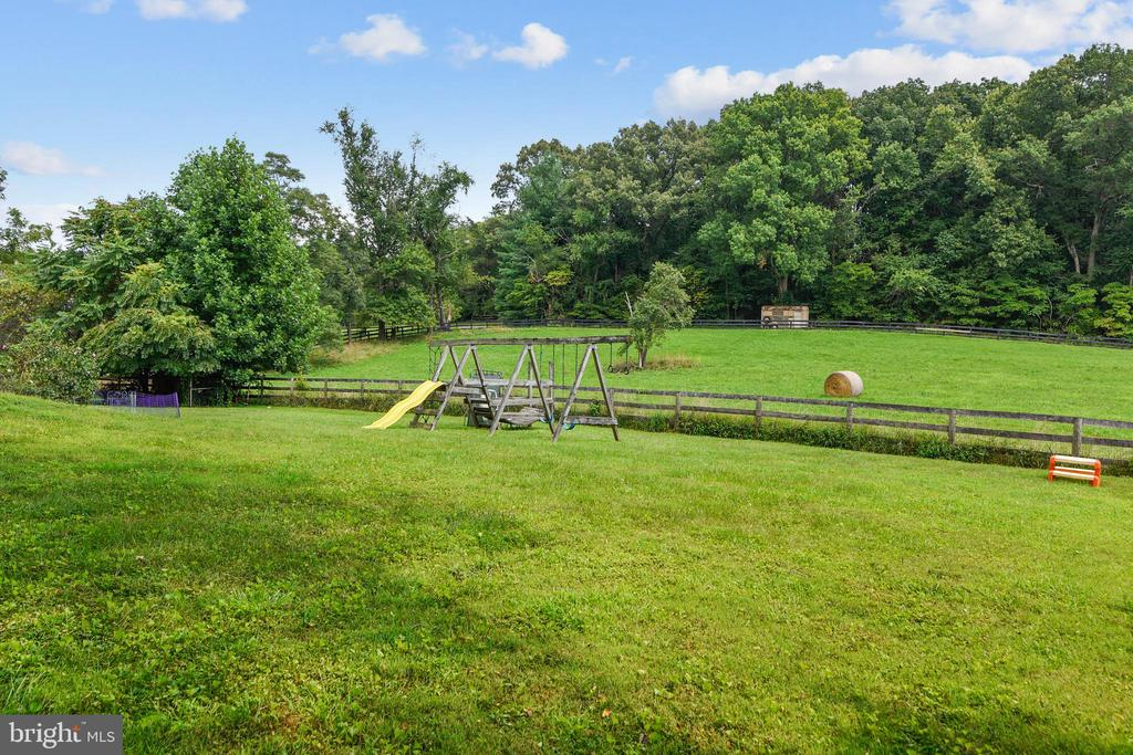 Private backyard view - 23266 WATSON RD, LEESBURG