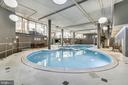 Indoor Pool w/view of 2nd floor - 8380 GREENSBORO DR #721, MCLEAN