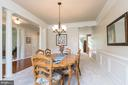 Expansive Formal Dining Room Looking to Kitchen - 8637 CHANGING LEAF TER, BRISTOW