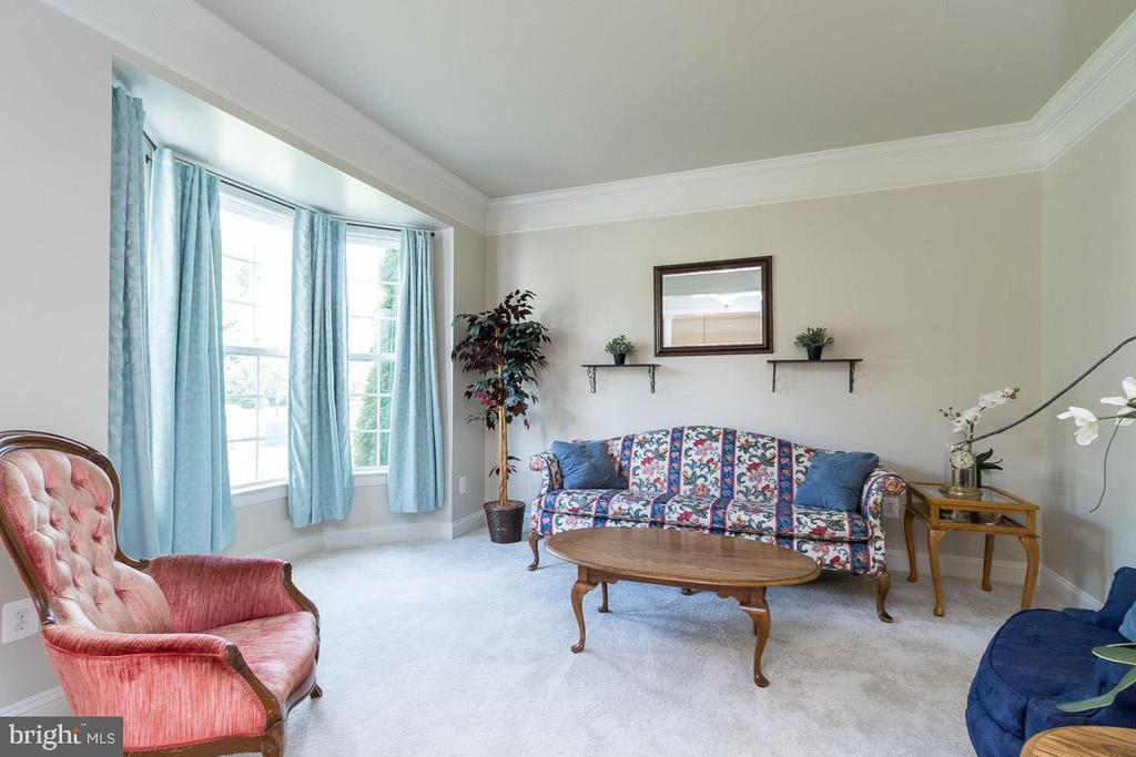 Formal Living Room with Bay Window - 8637 CHANGING LEAF TER, BRISTOW