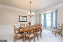 Formal Dining Room with Bay Window - 8637 CHANGING LEAF TER, BRISTOW