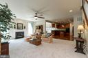 Spacious Family Room (22 X 18) with Gas Fireplace - 8637 CHANGING LEAF TER, BRISTOW