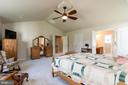 Master Bedrm w/Cathedral Ceiling & Huge WI Closet! - 8637 CHANGING LEAF TER, BRISTOW