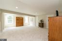 Basement~Den/Rec Room~with 2 Full Windows - 8637 CHANGING LEAF TER, BRISTOW