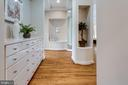 Entryway to his and Her Bathrooms and Closets - 7787 GLENHAVEN CT, MCLEAN