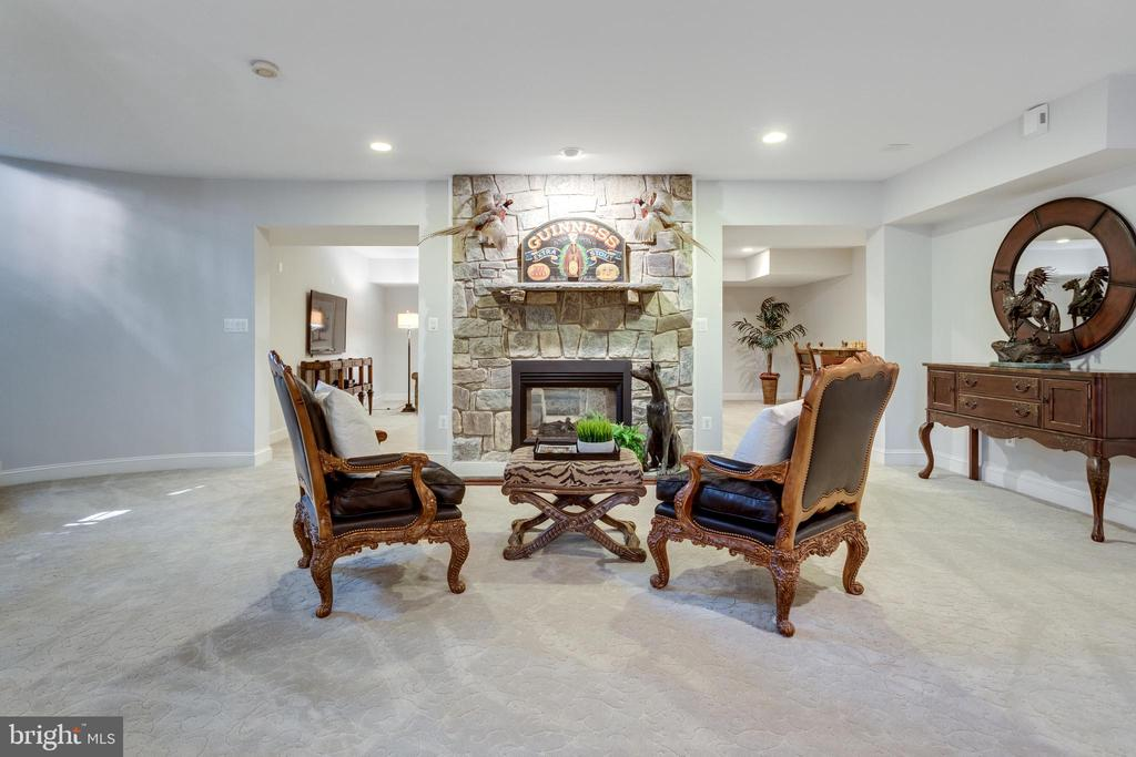 Lower Level with Stone Fireplace - 7787 GLENHAVEN CT, MCLEAN