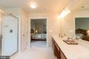 Master Bath with Dbl Vanities, Soak Tub, Shower - 8637 CHANGING LEAF TER, BRISTOW
