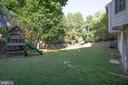 Fully Fenced backyard with Playset - 8 JONQUIL PL, STAFFORD