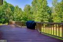 Deck overlooks Huge Backyard and Woods - 838 HARTWOOD RD, FREDERICKSBURG