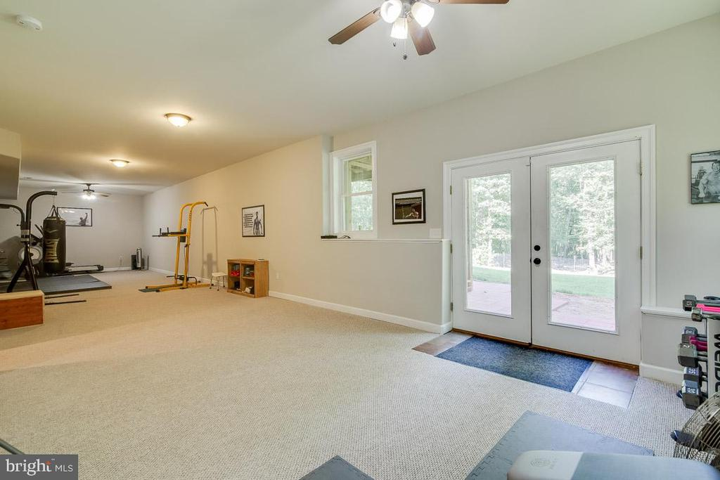 Basement leads out to a large Patio - 838 HARTWOOD RD, FREDERICKSBURG