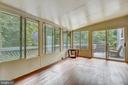 Screened in porch off of family room - 17605 SILVER DOLLAR CT, GAITHERSBURG