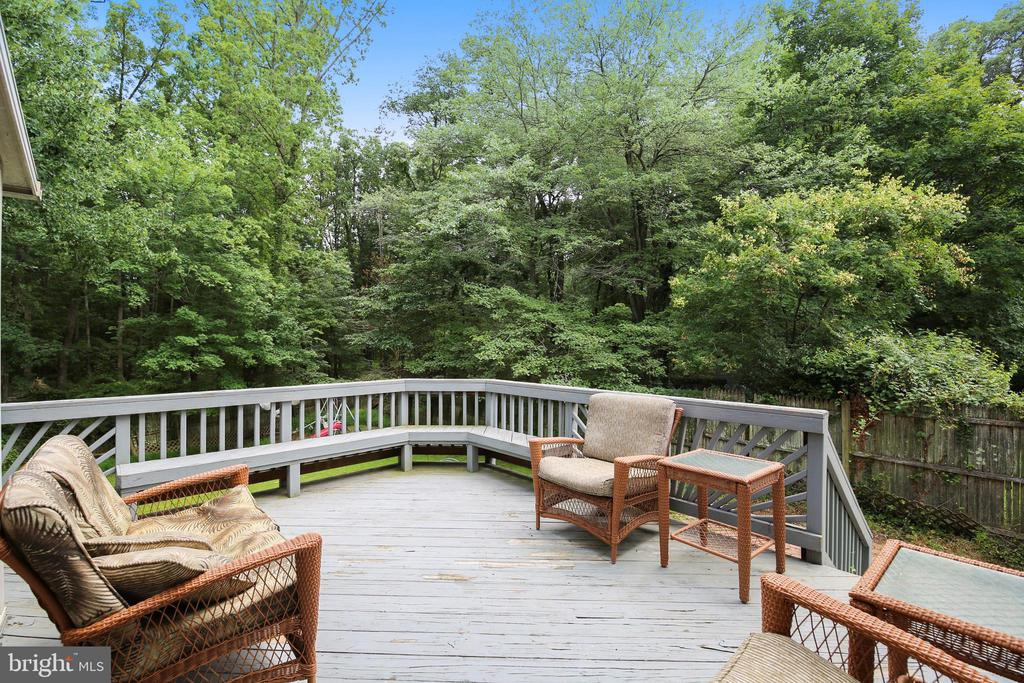 Large elevated deck off of screen porch - 17605 SILVER DOLLAR CT, GAITHERSBURG