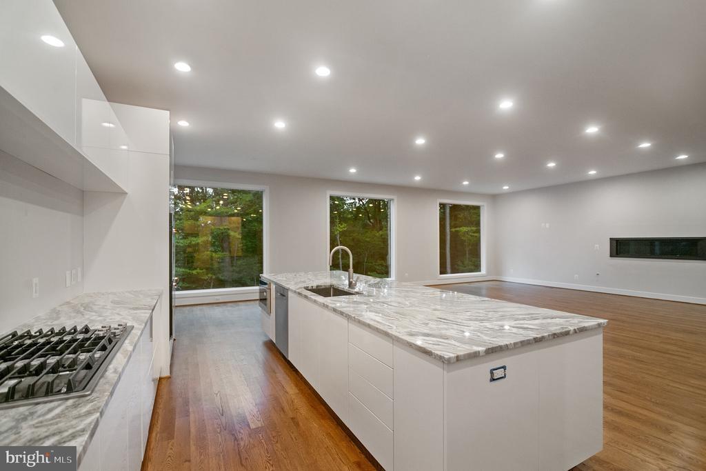 Kitchen w quartz counter tops, huge island ! - 6027 TULIP POPLAR CT, MANASSAS