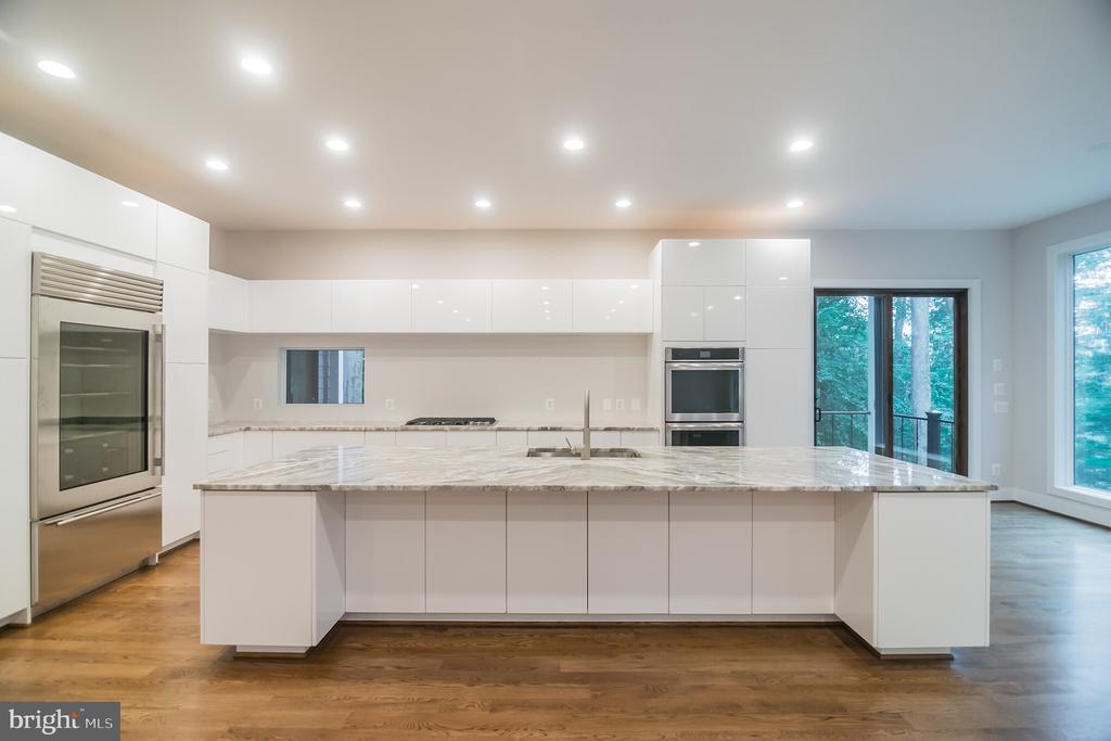 Kitchen w double oven, cabinet micro, cook top, - 6027 TULIP POPLAR CT, MANASSAS