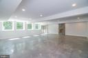 Lower Level with wall of win walk out to pool - 6027 TULIP POPLAR CT, MANASSAS