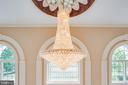 CHANDELIER IN THE ENTRY - 11510 BALDY EWELL WAY, SPOTSYLVANIA