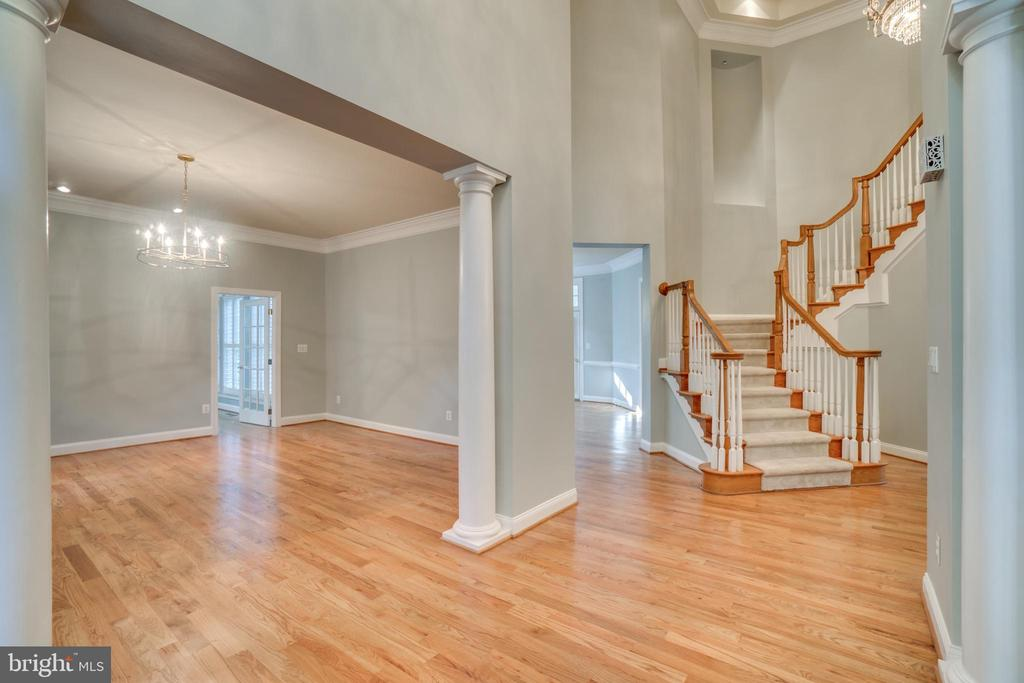 Entry foyer to formal living room - 862 CENTRILLION DR, MCLEAN