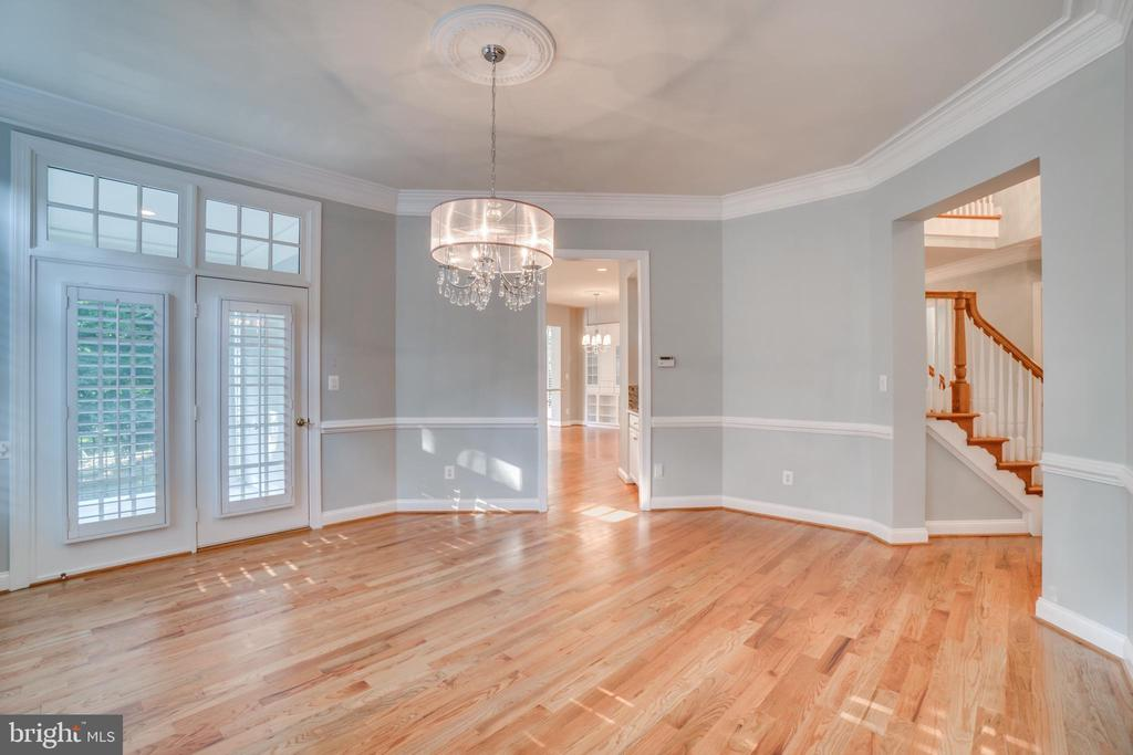 Dining Room with French door to terrace. - 862 CENTRILLION DR, MCLEAN