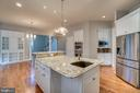 Generous Kitchen Island - 862 CENTRILLION DR, MCLEAN