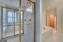 Master bath with spacious, separate shower - 862 CENTRILLION DR, MCLEAN