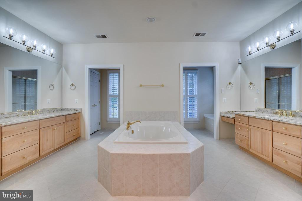 Master Bath with soaking tub - 862 CENTRILLION DR, MCLEAN