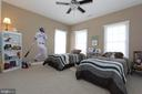Bedroom 3 with upgraded carpeting & ceiling fan - 4303 SARATOGA SPRINGS CT, MIDDLETOWN