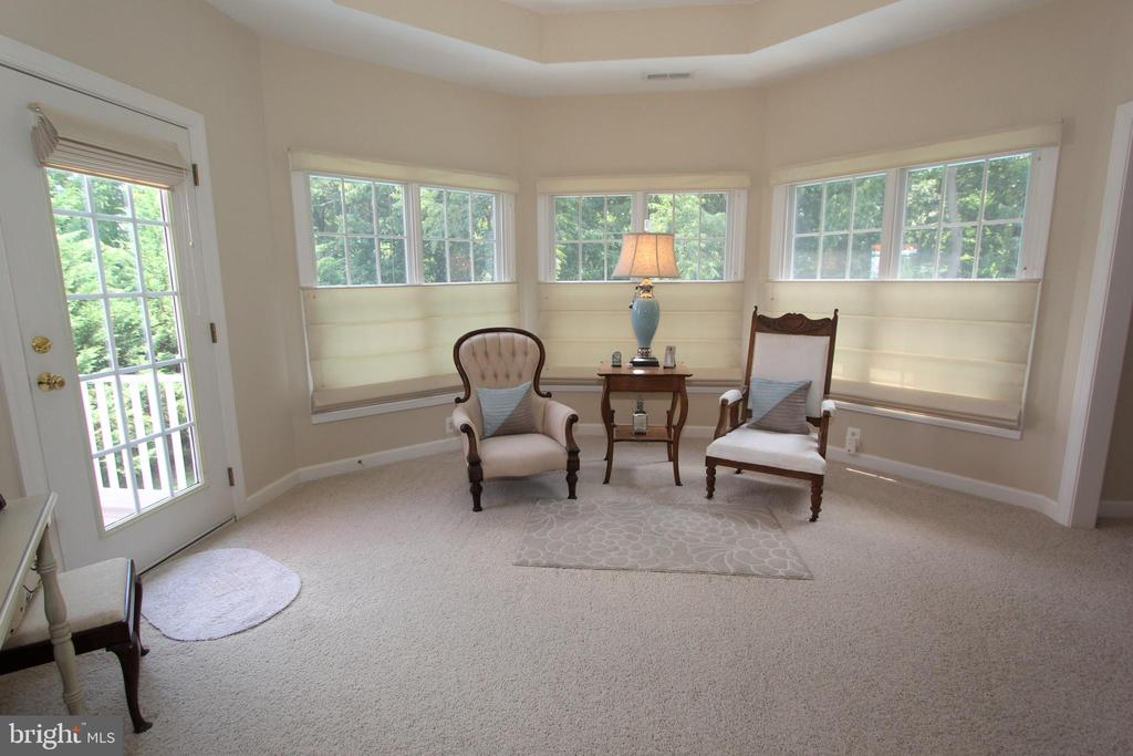 Sitting room overlooks the woods - 4303 SARATOGA SPRINGS CT, MIDDLETOWN