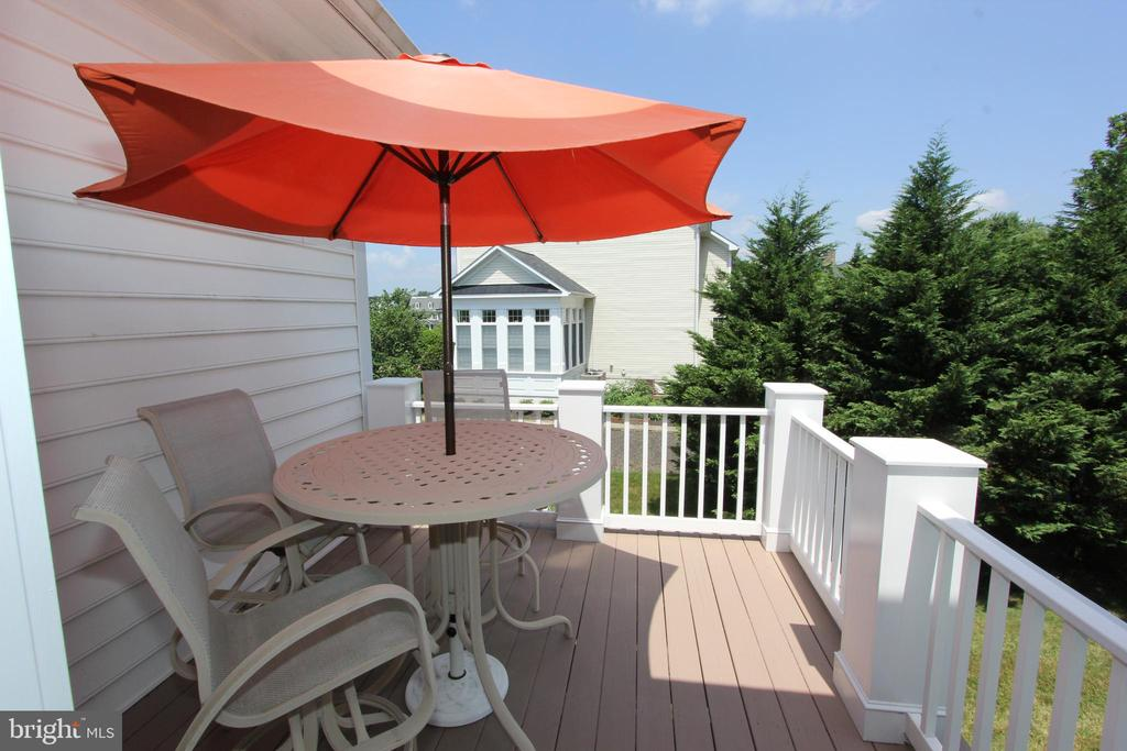 Custom deck accessed via the sitting room - 4303 SARATOGA SPRINGS CT, MIDDLETOWN