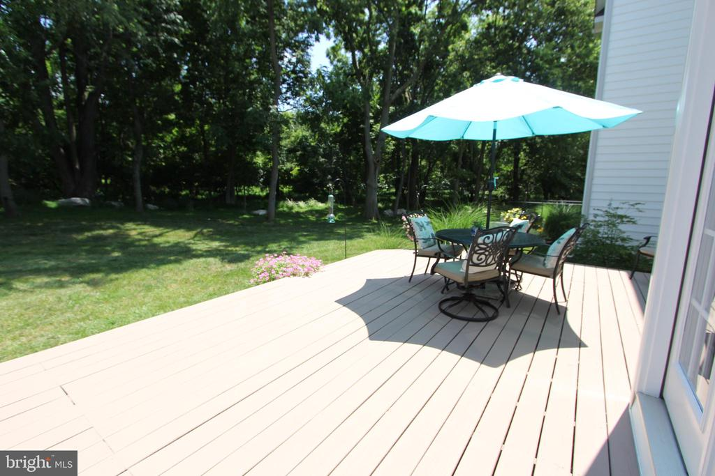Rear deck, with view towards the woods - 4303 SARATOGA SPRINGS CT, MIDDLETOWN