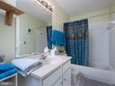 Hall bath (also opens to bedroom 2) - 6912 WINTER LN, ANNANDALE