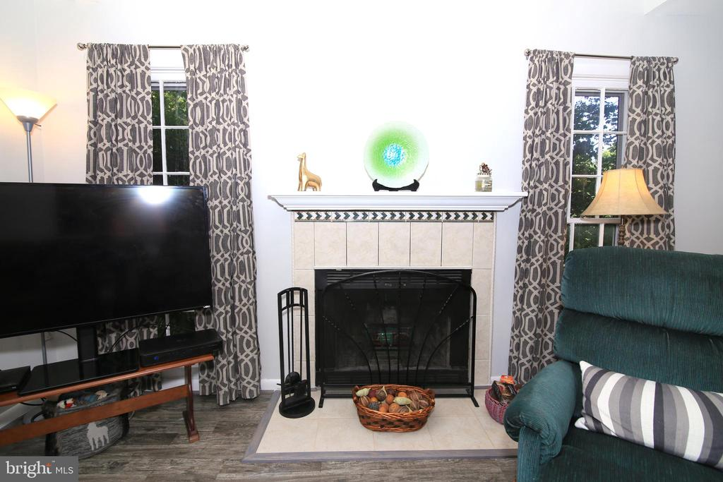 Living Room Fireplace - 15046 SILVER LEAF CT, DUMFRIES