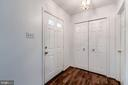 Foyer With Coat Closet and Powder Room - 3892 MOHR OAK CT, FAIRFAX